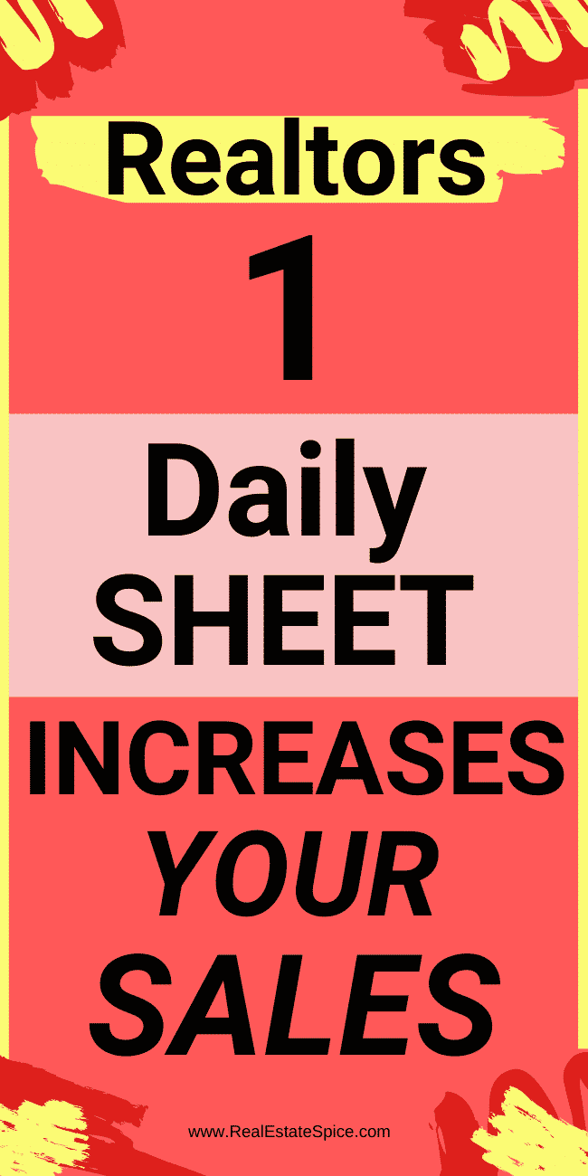 This 1 Practice Landed Me SALES CONSISTENTLY.  This FREE Daily Sheet will bring you sales CONSISTENTLY...