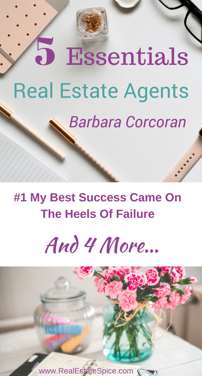 Real Estate Marketing. 5 Absolute Musts From Barbara Corcoran.   #Real Estate Marketing #Real Estate Marketing Ideas #Realtor Marketing #Realtor #Real Estate Agent #Real Estate #Marketing #Sales motivation #Sales tips #Real Estate Tools #Realtor Help