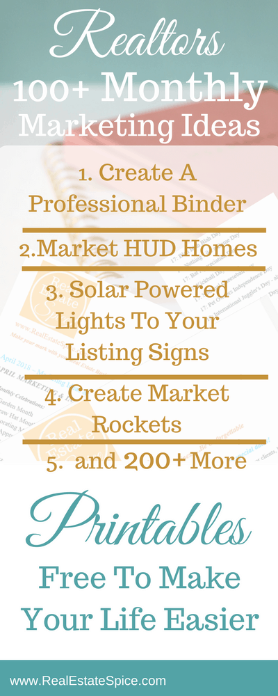Monthly Marketing Ideas For Realtors®