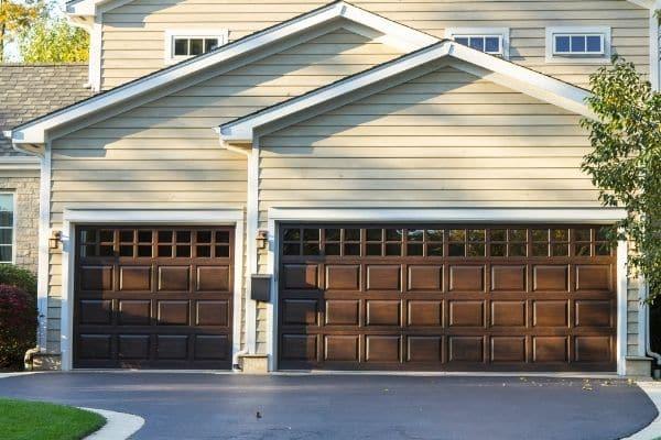 3 car wood garage doors