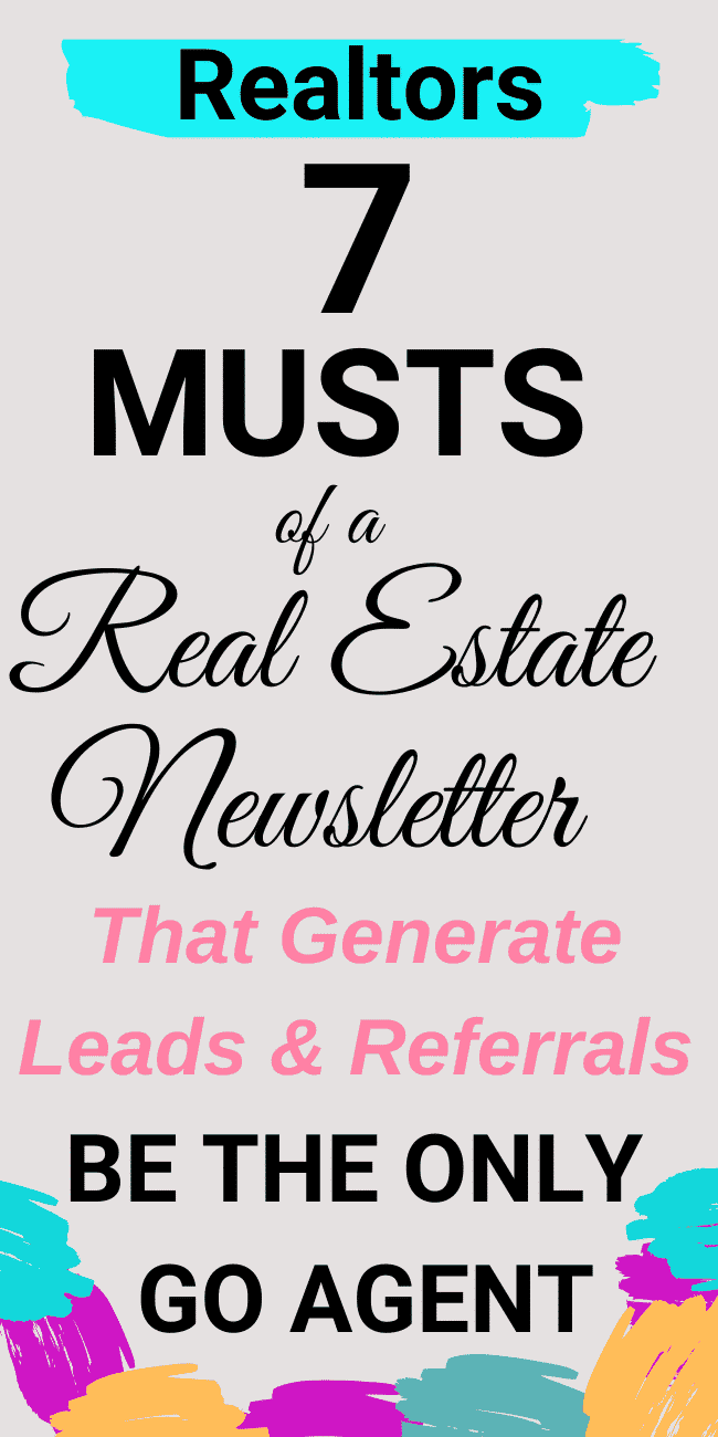Generate Leads & STAY TOP OF MIND with your own strategic custom real estate newsletter.  Use these tips and this will you pay you in SPADES...