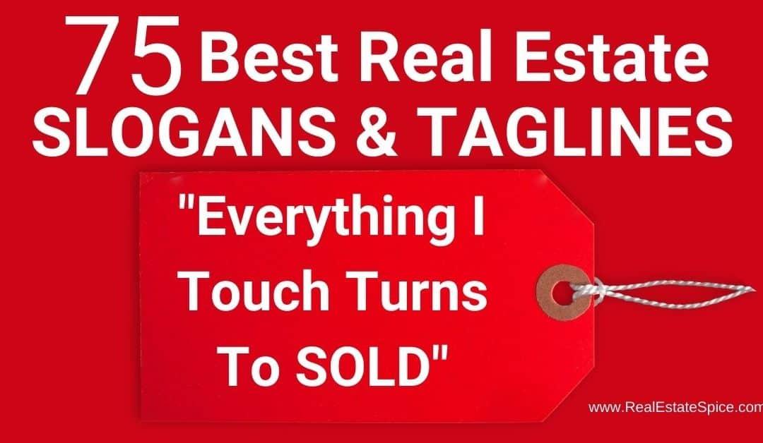 75 Best Real Estate Slogans and Taglines – 2020 PDF Guide