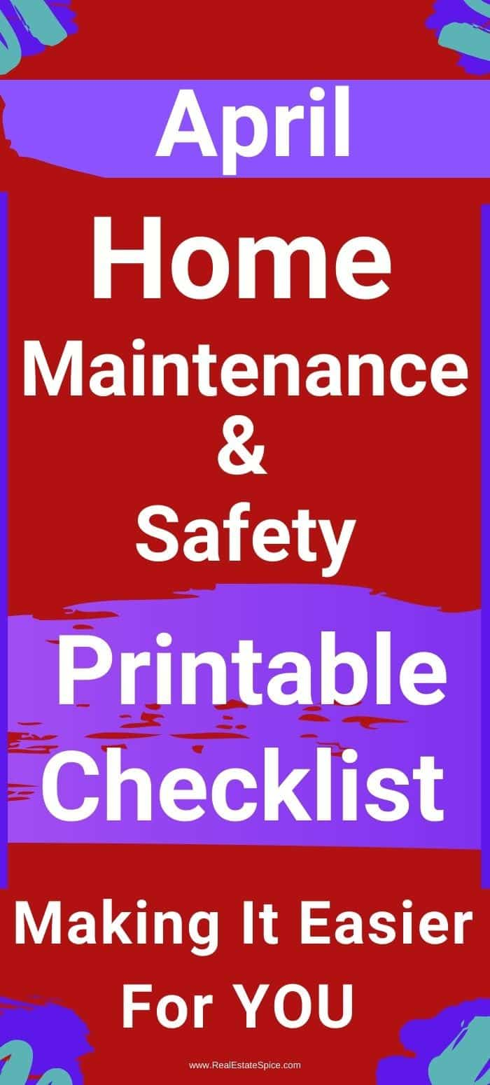 9 April Home Maintenance And Safety Tasks