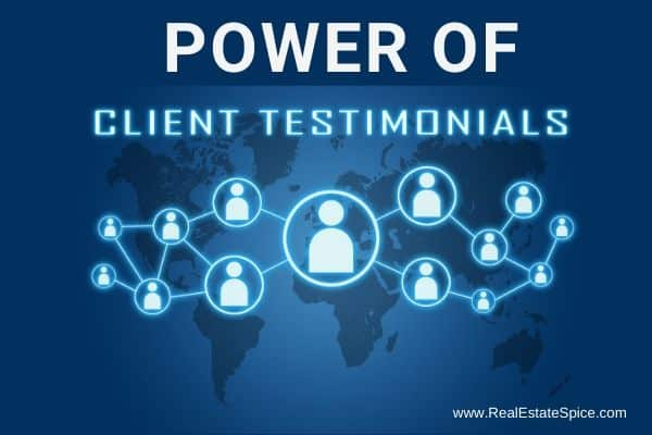 people connected with the verbiage power of client testimonials