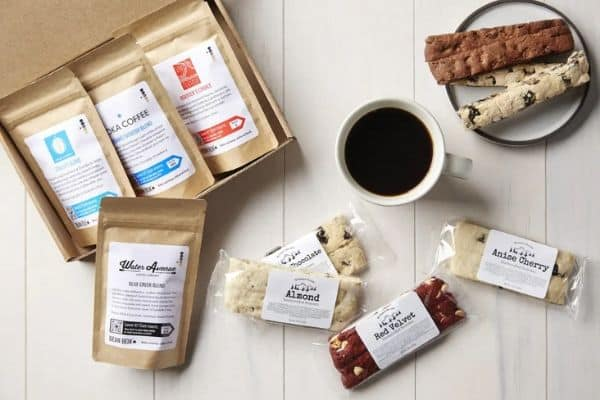 Coffee Gift Box with Biscotti