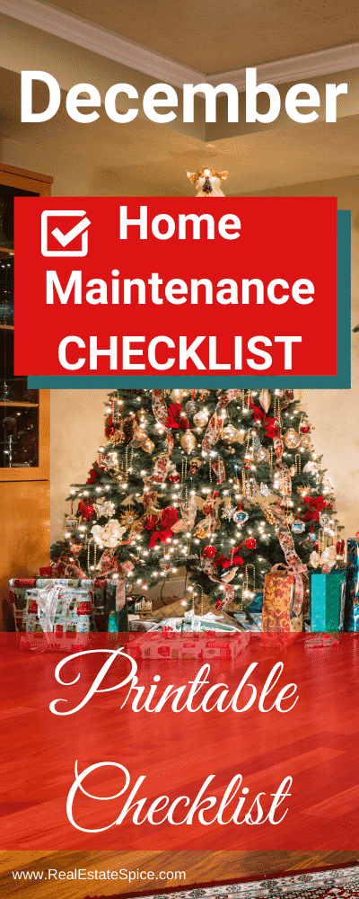 December Home Maintenance & Safety Checklist.  Printable checklist available too.  October is fire safety month.  Protect your loved ones and home...