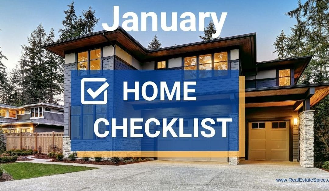 9 January Home Maintenance and Safety Tasks Checklist