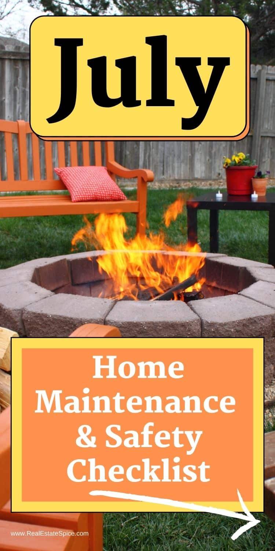 July Home Maintenance Checklist