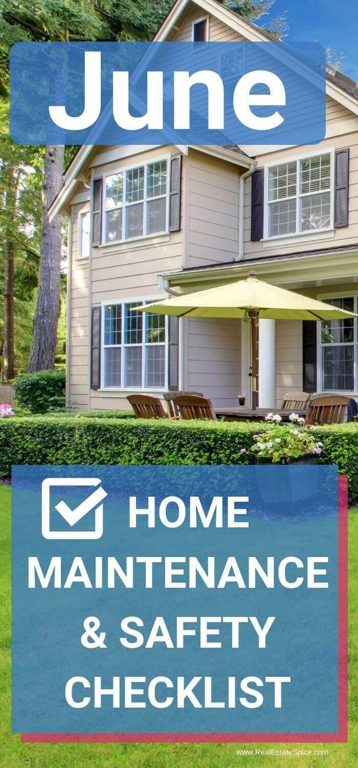 June Home Maintenance Checklist