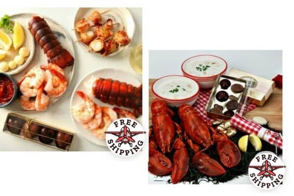 Lobster Dinners with free shipping label