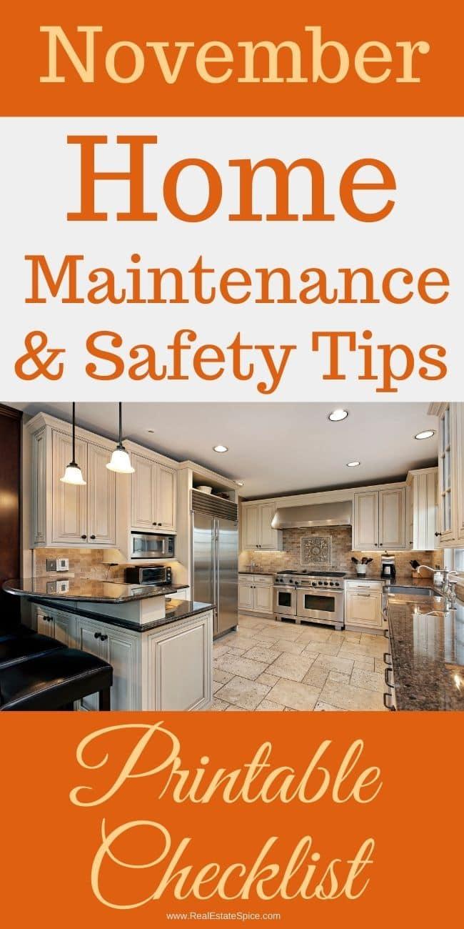 November Home Maintenance