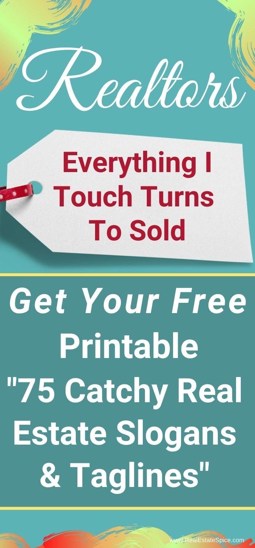 Printable Real Estate Slogans Real Estate Marketing