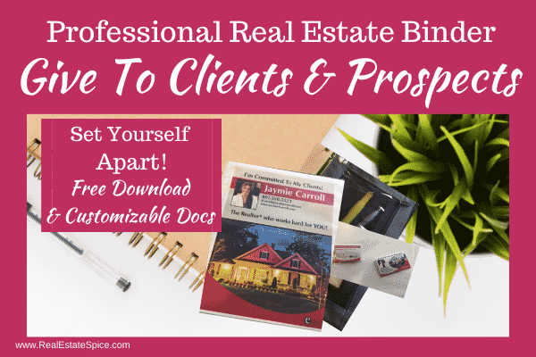 Real Estate Binder
