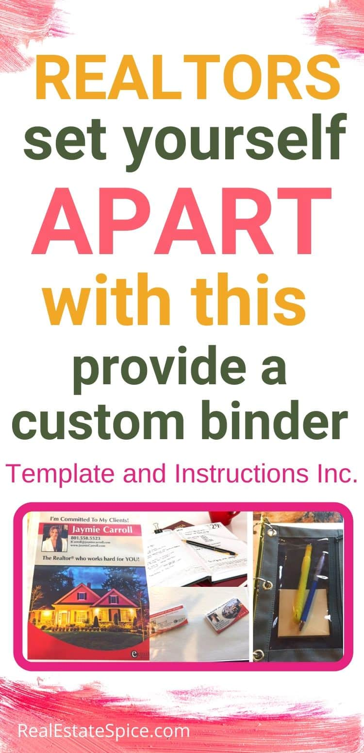 Set Yourself Apart And Make An Impression With Your Own Professional Real Estate Binder