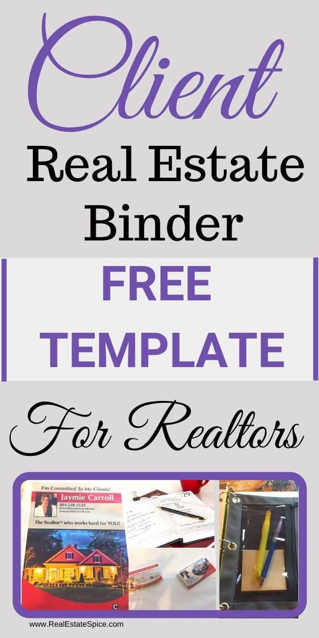 Real Estate Binder For Clients