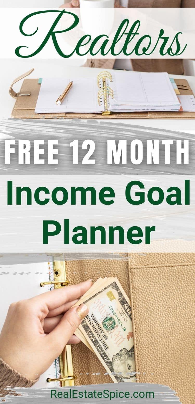 Realtor Income Goal Planner