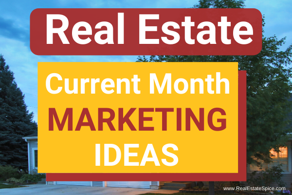 Real Estate Monthly Marketing Ideas PDF