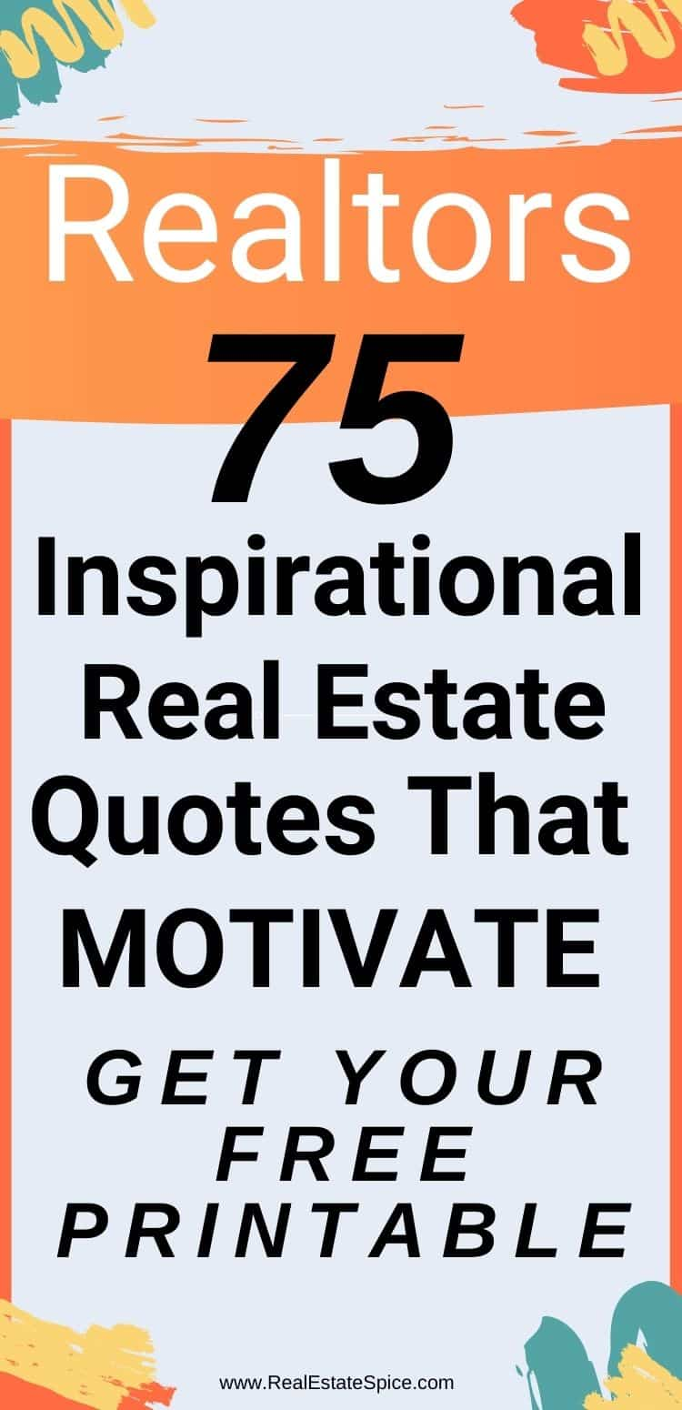 Real Estate Quotes that Motivate