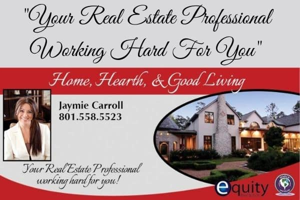 Realtor Banner that says your real estate professional working hard for you