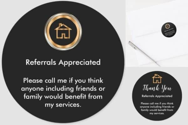 Realtor Referral Stickers