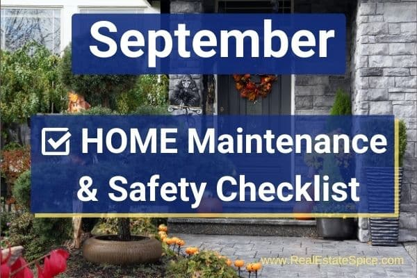 September Home Maintenance and Safety Checklist PDF