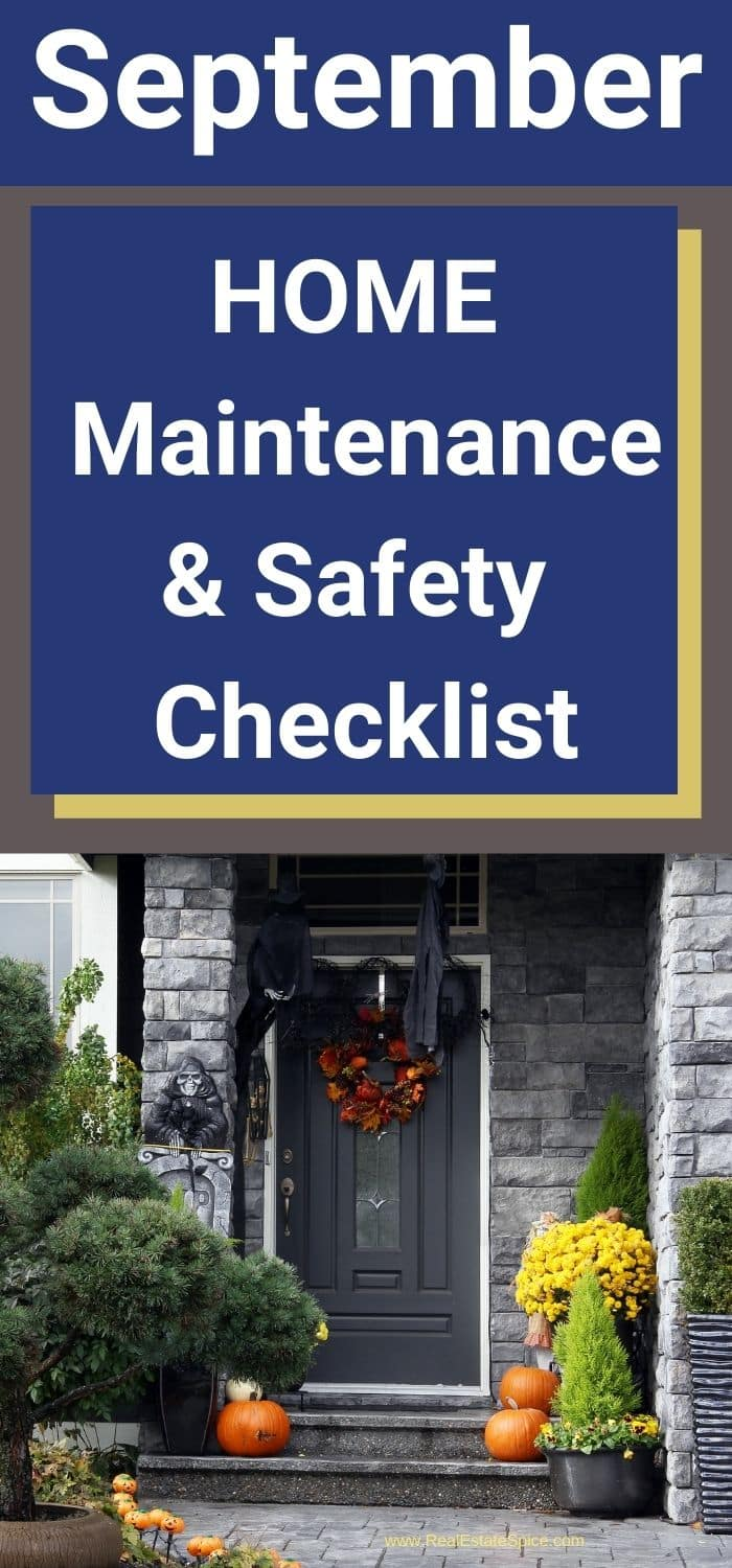 September Home Maintenance and Safety Checklist