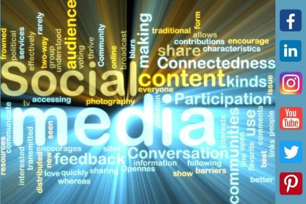 Social Media Benefits and Icons