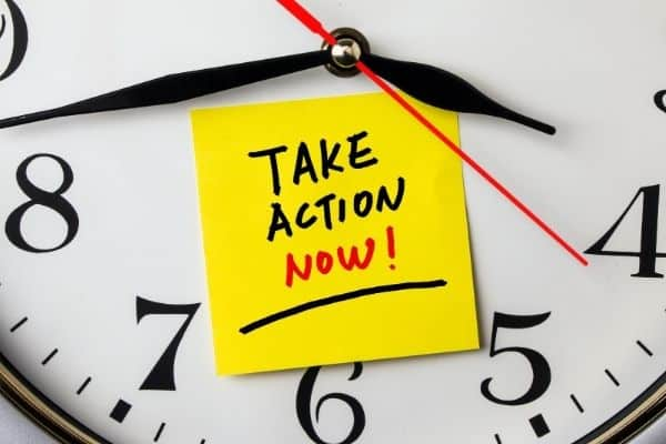 Take Action Now On A Clock