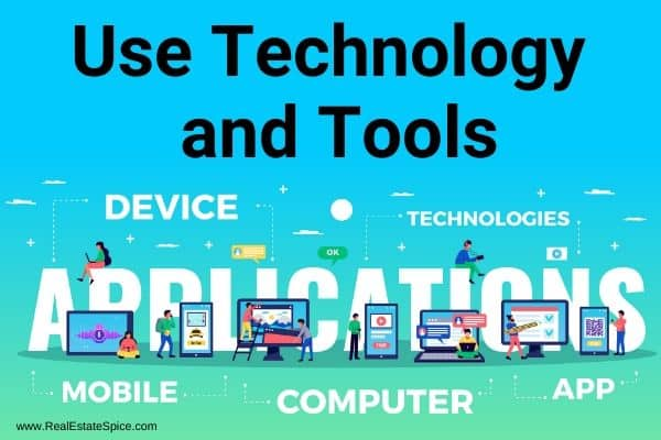 software technology devices and apps with verbiage use technology and tools