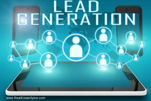 background map with 14 heads says lead generation