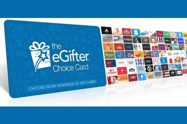 EGifter Choice Card Shows hundreds of gift cards from merchants