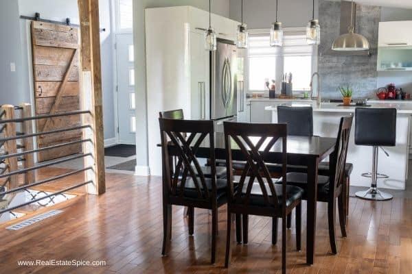 elegant streamlined staged kitchen modern