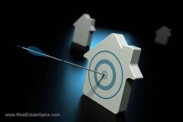 house w a bullseye dartboard tactical real estate marketing