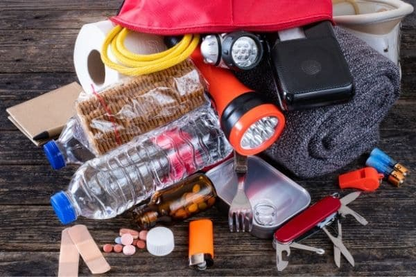 items for a natural disaster survival kit