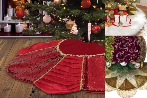 luxury christmas tree skirt