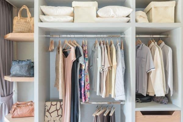 staged organized closet