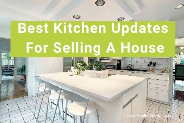 white kitchen and says kitchen updates for selling a house